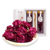 玫瑰花冠茶 30gx2 特级花冠富硒 平阴重瓣红玫瑰 芳蕾