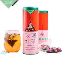 玫瑰红茶 45g(3g*15包) 养生花草茶 广州茶里