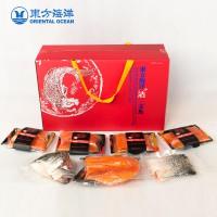 東方海洋活鱼现杀新鲜整条三文鱼分包礼盒 生鲜送礼佳品