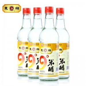【东湖】9度米醋500ml*4瓶 浸蛋醋泡蛋醋 原浆米醋白醋