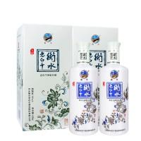 衡水老白干玉瓷52度500ML*2瓶礼盒装