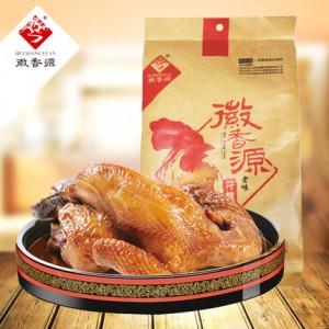 符离集烧鸡徽香源纸袋土麻鸡500g卤味熟食私房菜