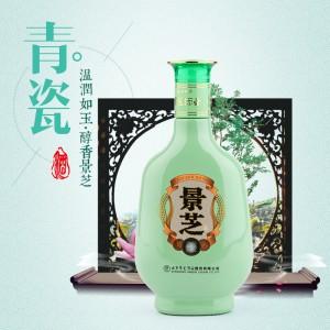 景芝酒52度500ml景芝青瓷浓香型国产白酒礼品粮食酒