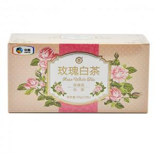 中茶花草茶包 三角袋泡 玫瑰白茶(玫瑰花+白茶)10袋/25g