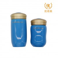 负离子能量杯 雪地陶瓷 亚克力杯盖