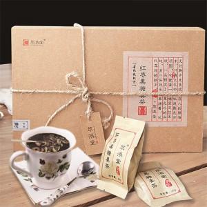 萃涣堂 红枣黑糖姜茶500克 云南手工黑糖老姜茶姜母茶红糖姜茶